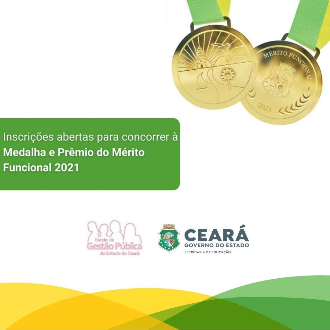 Inscrições abertas para concorrer à Medalha e Prêmio do Mérito Funcional 2021